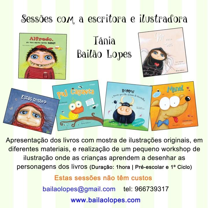 sessões com a autora Tânia Bailão Lopes